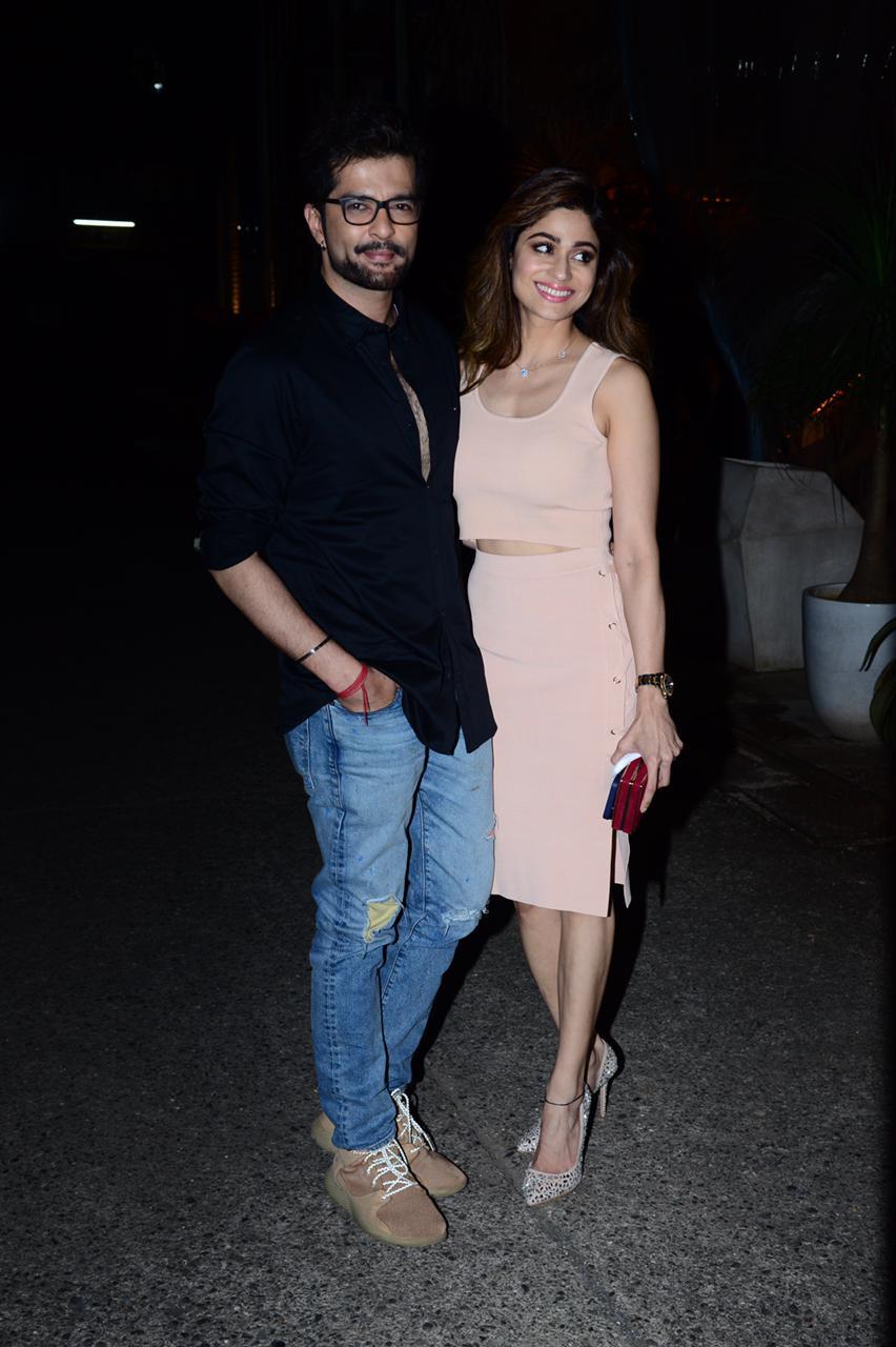 Raqesh Bapat and Shamita Shetty on a date night(PC: Viral Bhayani)
