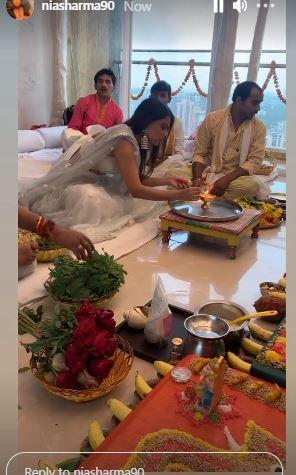 Nia Sharma performs puja PC: Instagram.com/niasharma90/