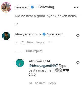 Bhavya Gandhi's Comment