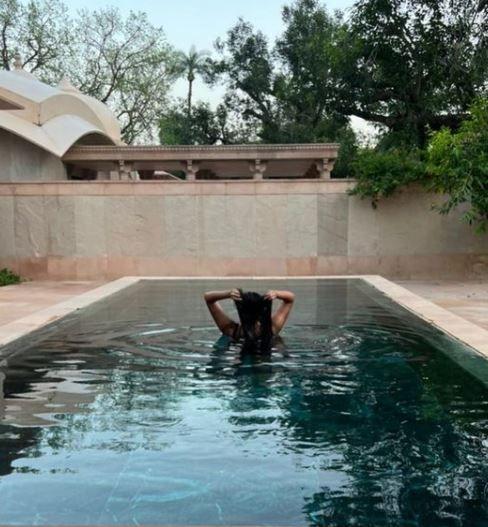 Rhea Kapoor, Karan Boolani, And Masaba Gupta Chill By The Pool Photo Credit: Instagram/@ rheakapoor