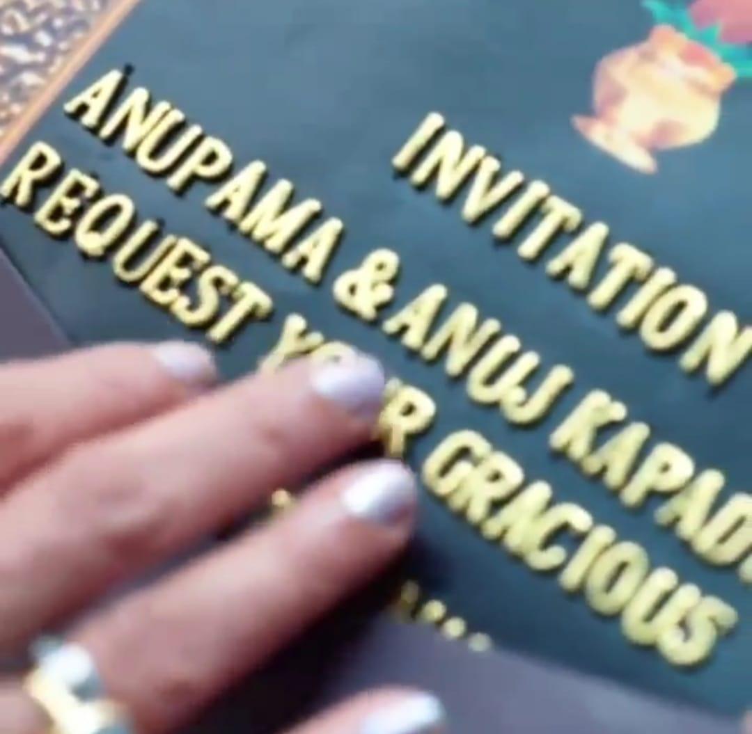 Anupama receives Bhumi Poojan invitation (Picture Credits: Team Anupamaa)