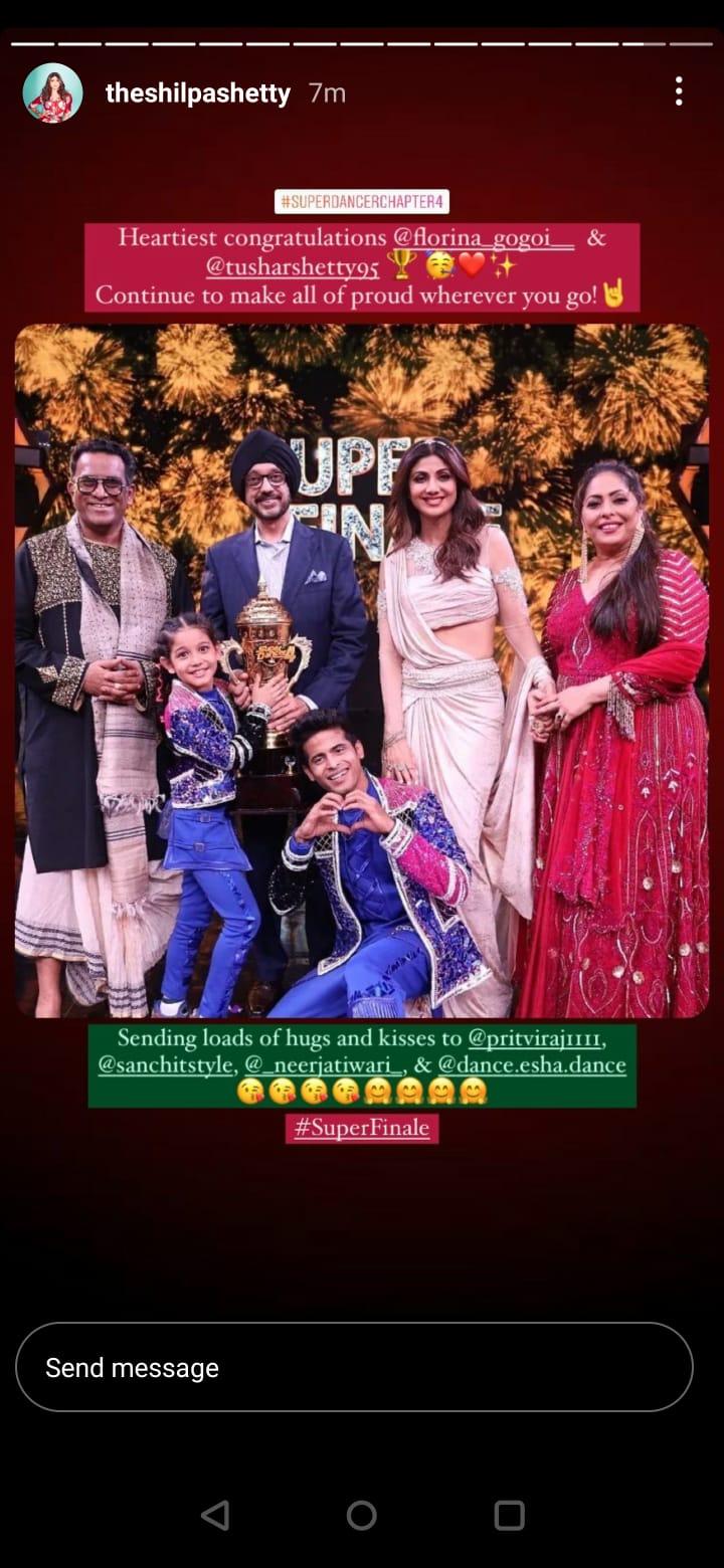 Florina Gogoi Thanks Super Guru Tushar Shetty