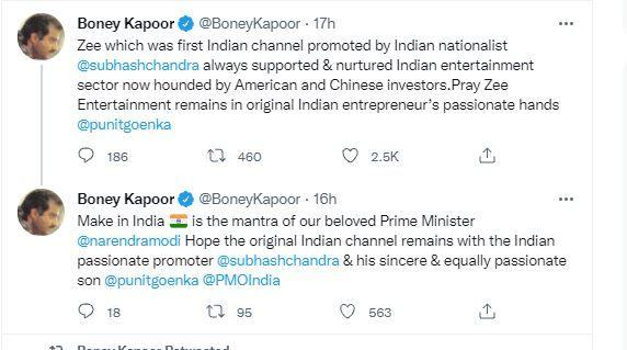 Boney Kapoor supports Zee