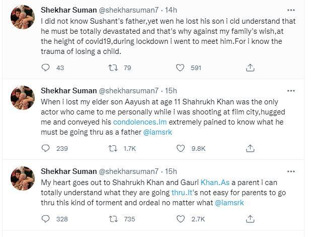 Aryan Khan Case Latest Update: Shekhar Suman, Vishal Dadlani Support Shah Rukh Khan, Say 'Being Used as Smokescreen'