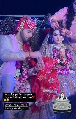 Actor Abhishek Malik marries girlfriend Suhani