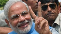 As PM, Narendra Modi has brief exchanges with SAARC leaders