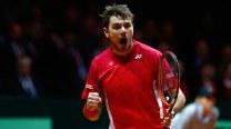 Stanislas Wawrinka beats Jo-Wilfried Tsonga, gives 1-0 lead to Switzerland in Davis Cup Final
