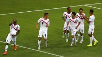 Costa Rica stun Uruguay 3-1 as Luis Suarez looks on