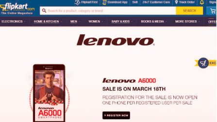 Lenovo a6000 sale on 18 march