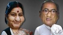 Sushma Swaraj and Digvijaya Singh – New best friends?