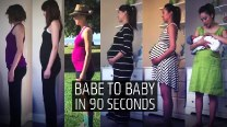 Time Lapse Photography: Pregnant Lady to Baby in only 90 seconds! (Watch heart-melting video)