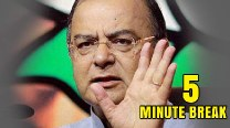 Union Budget 2014 Live: Finance Minister Arun Jaitley took an unexpected 5 minute break