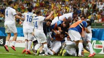FIFA World Cup 2014: Late penalty drama as Greece oust Ivory Coast