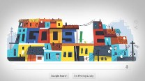 Google Doodle celebrates colourful football spirit of Brazillian Favela on Day 7